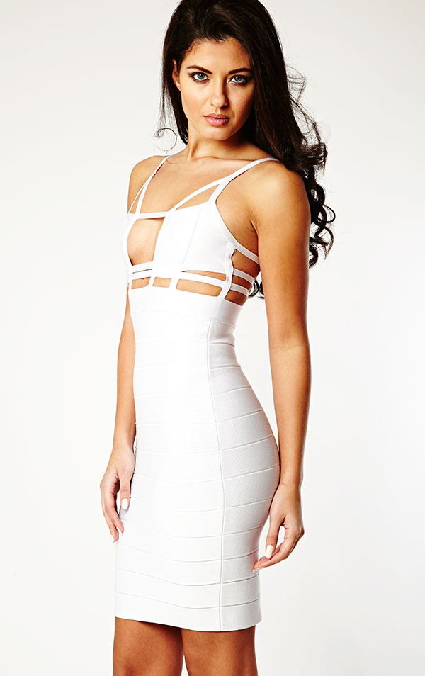 Attractive White Cut Out Gown Pattern - Images for wedding gown ...
