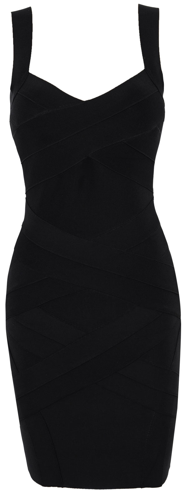 Clothing : Bandage Dresses : &39Jennifer&39 Cross Back Black Bandage Dress
