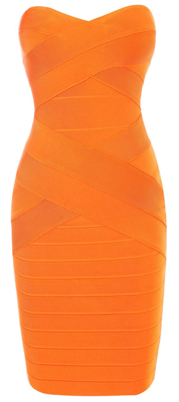orange strapless dress « Bella Forte Glass Studio