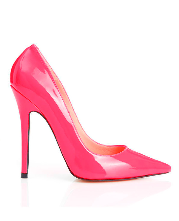 Shoes : 'Paris' Patent Hot Pink Pointed Toe High Heel Pump