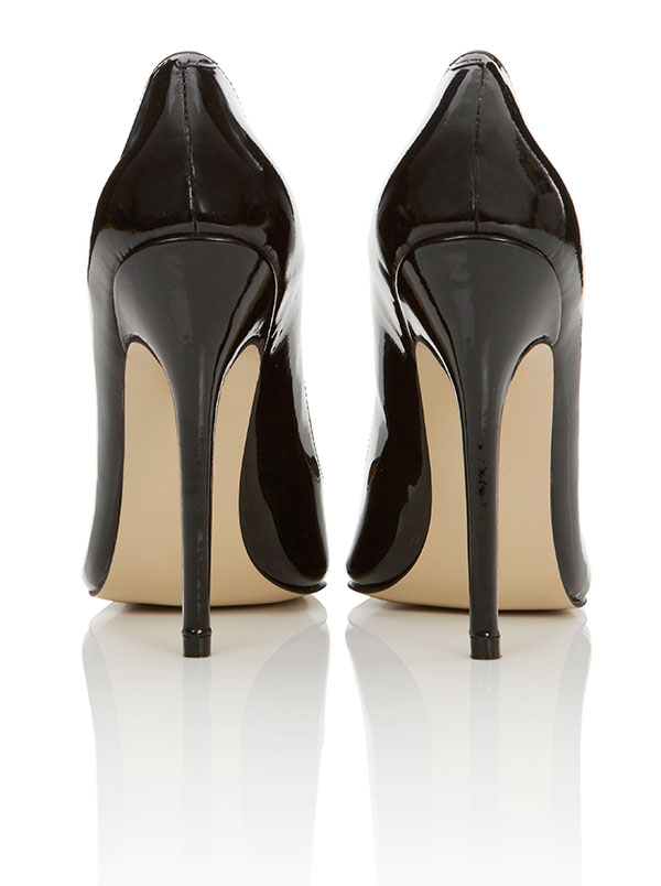 Shoes : &39Paris&39 Patent Leather Black Pointed Toe High Heel Pump