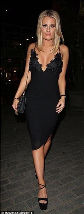 Clothing Pencil Dresses Caprice Black Slip Dress