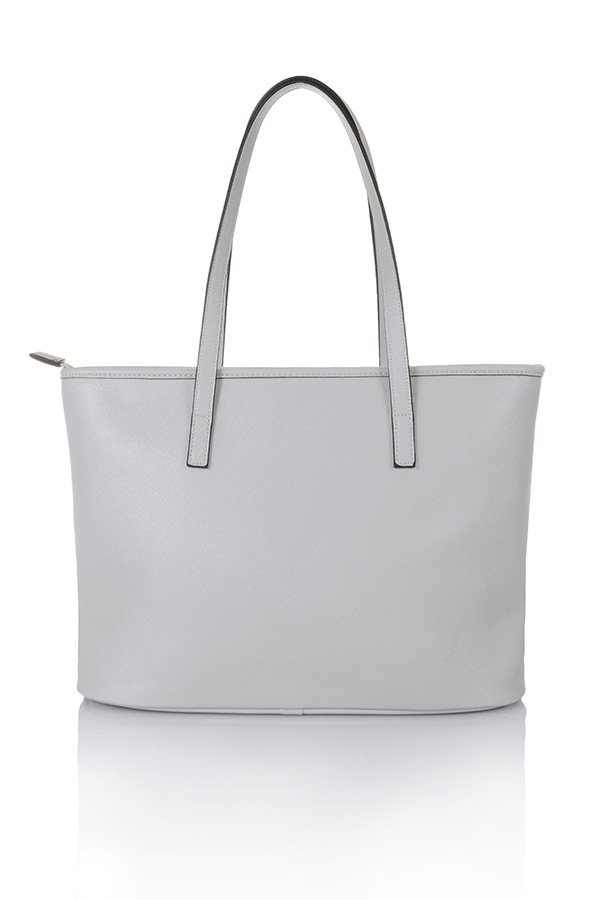 Accessories : 'Maison' Grey Leatherette Tote Bag
