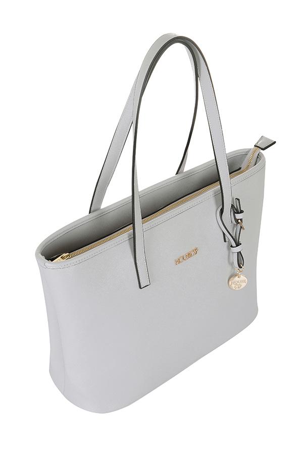 Accessories : 'Maison' Grey Leatherette Tote Bag