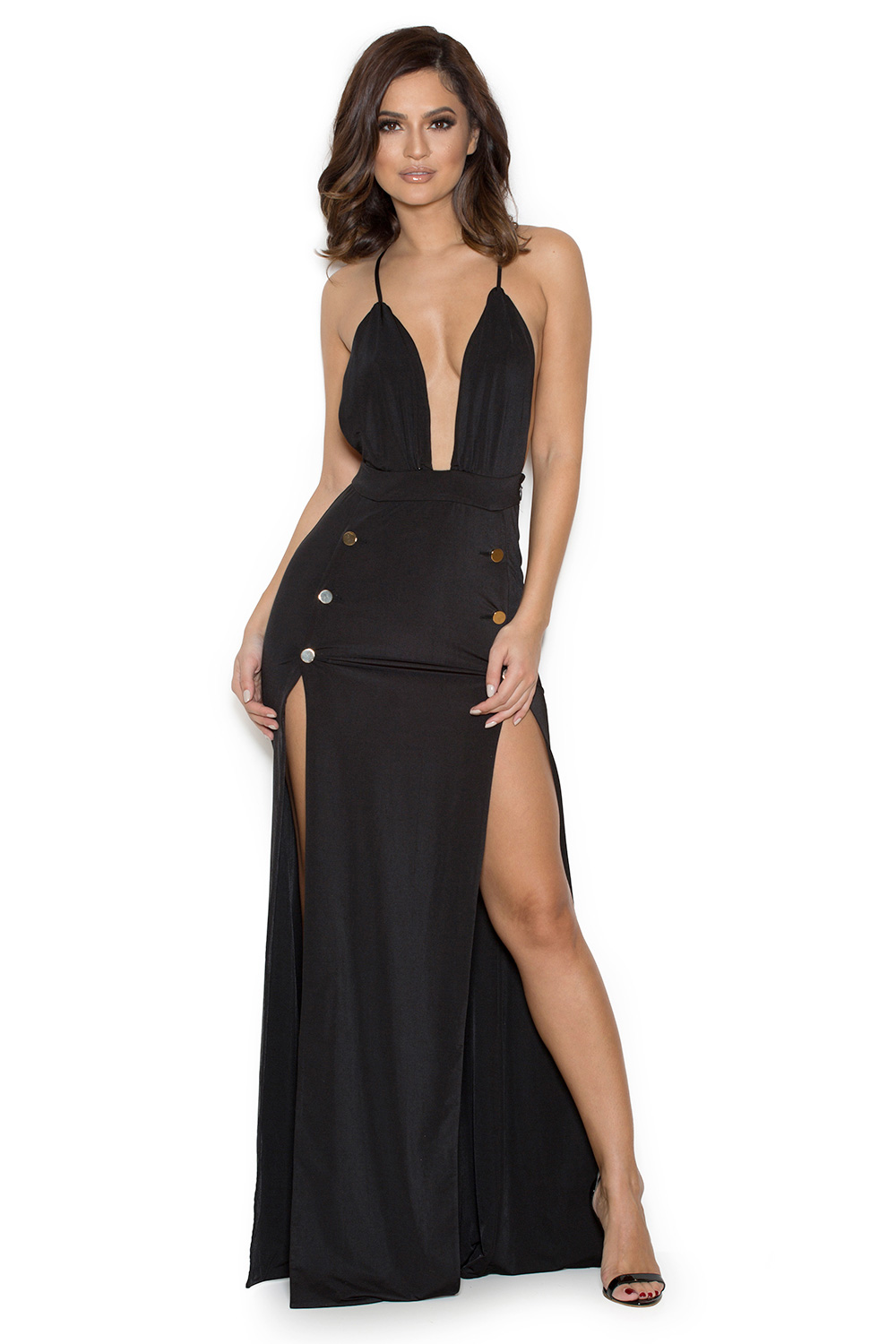 Free shipping BOTH ways on long black maxi dress with slit, from our vast selection of styles. Fast delivery, and 24/7/ real-person service with a smile. Click or call