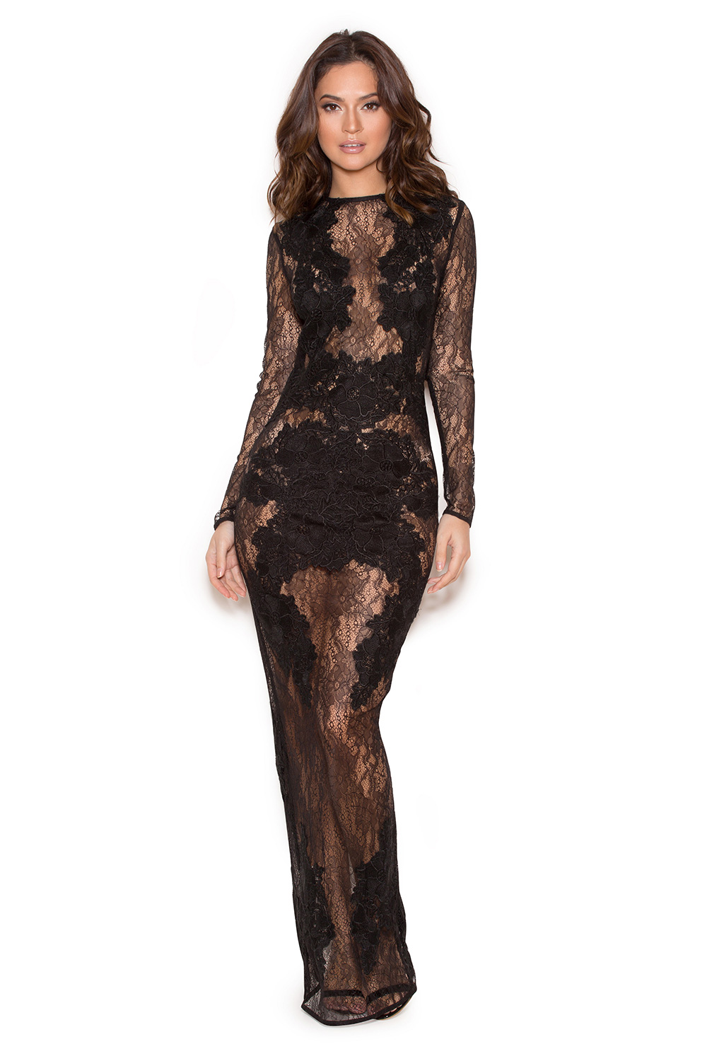 Lulus Exclusive! Beauty and grace abound with the Lulus Amazing Lace Black Lace Maxi Dress! Sheer mesh shapes a rounded neckline atop a darted, sleeveless bodice with a sexy plunging silhouette. Fitted waist falls into an elegant lace maxi skirt with a flaring mermaid hem. Back keyhole with top /5(33).