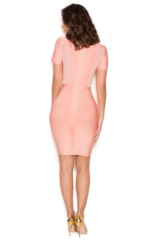 clothing bandage dresses 39 rayane 39 pink bandage and. Black Bedroom Furniture Sets. Home Design Ideas
