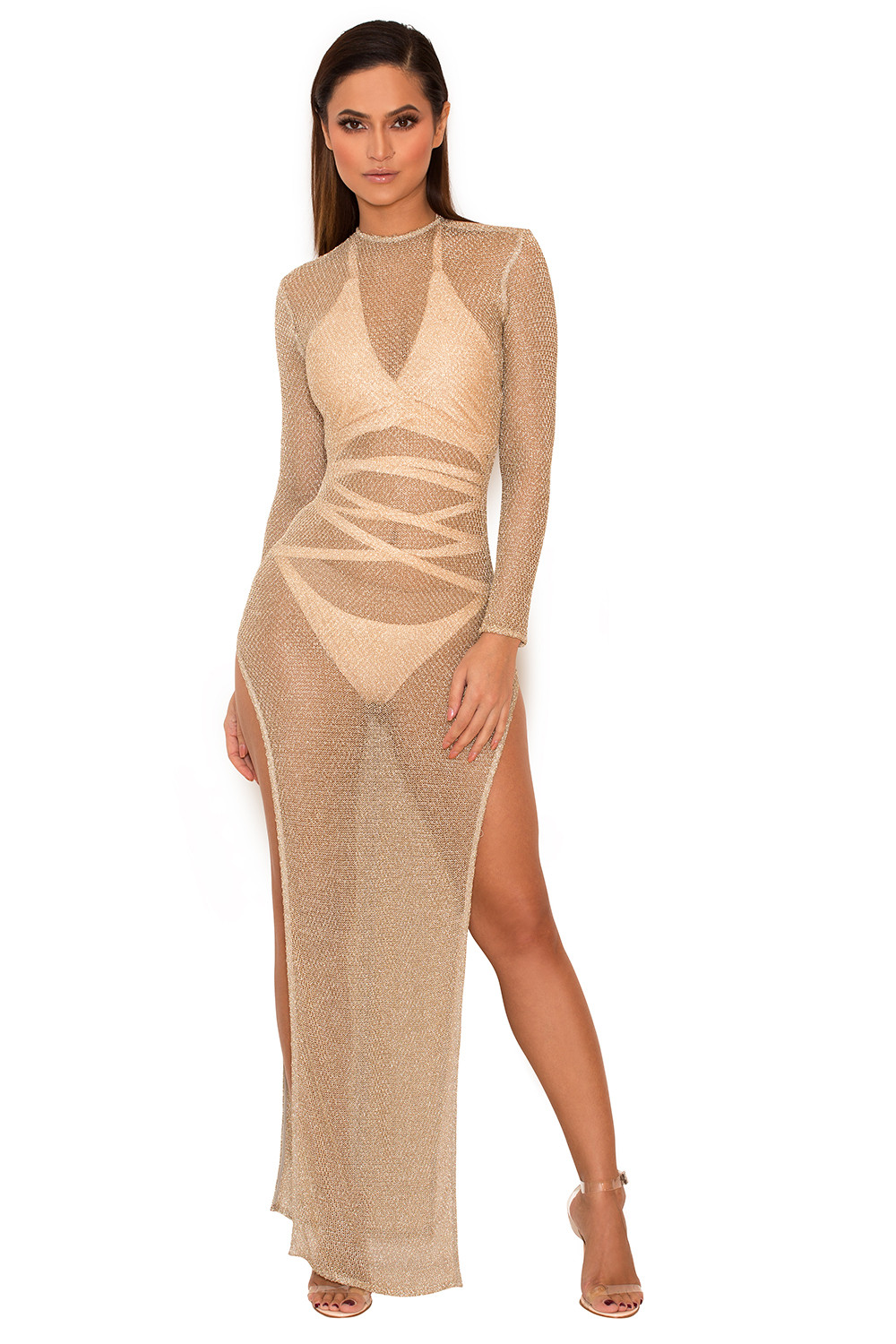 Joan Calabrese Glitter Sheer Dress w/ Embellished Waist, Size Details Joan Calabrese dress with pleated sheer top with full tulle skirt. Wide waistband with rhinestone, crystal, and beaded embellishment.