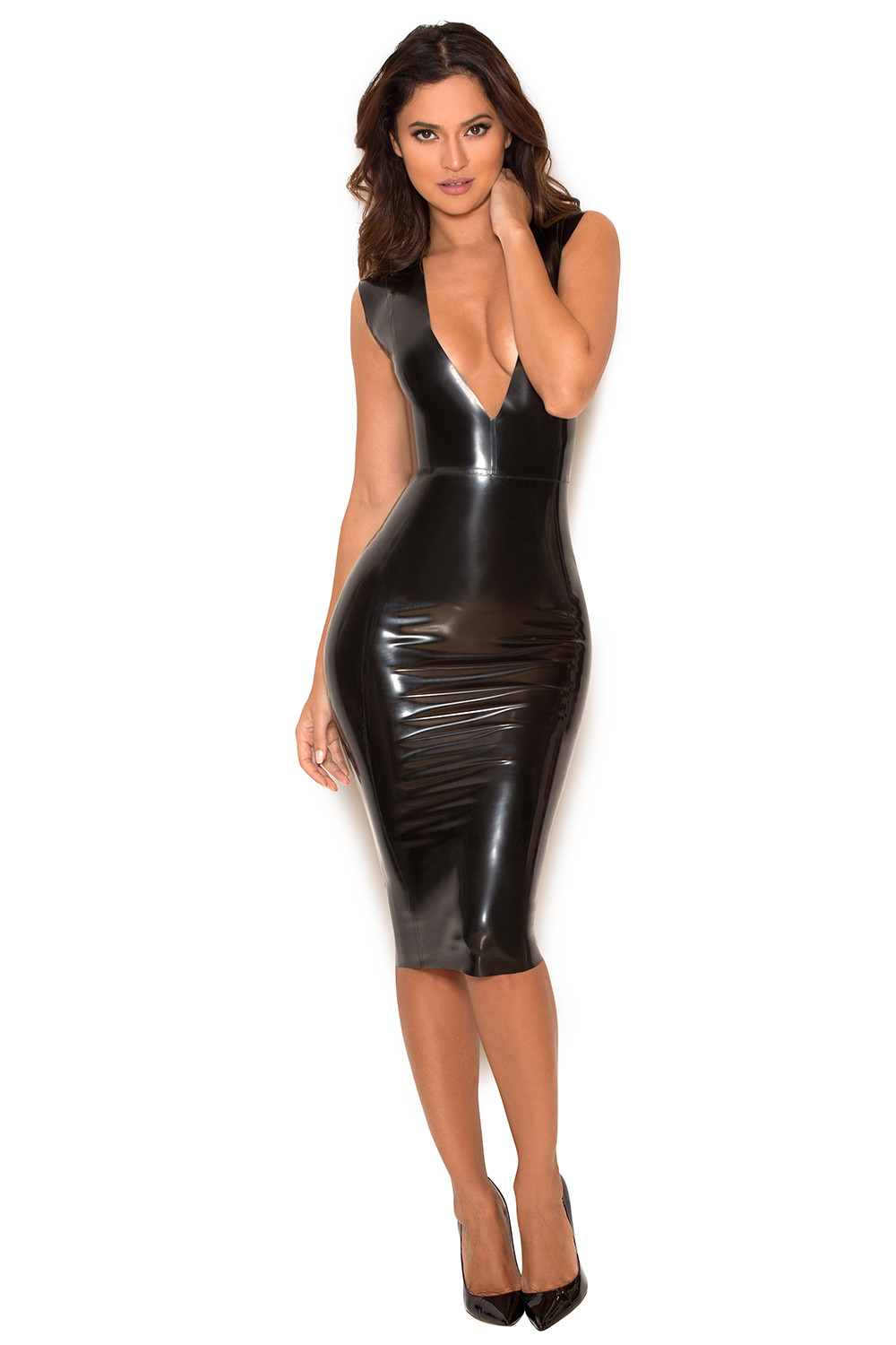 latex dress Black