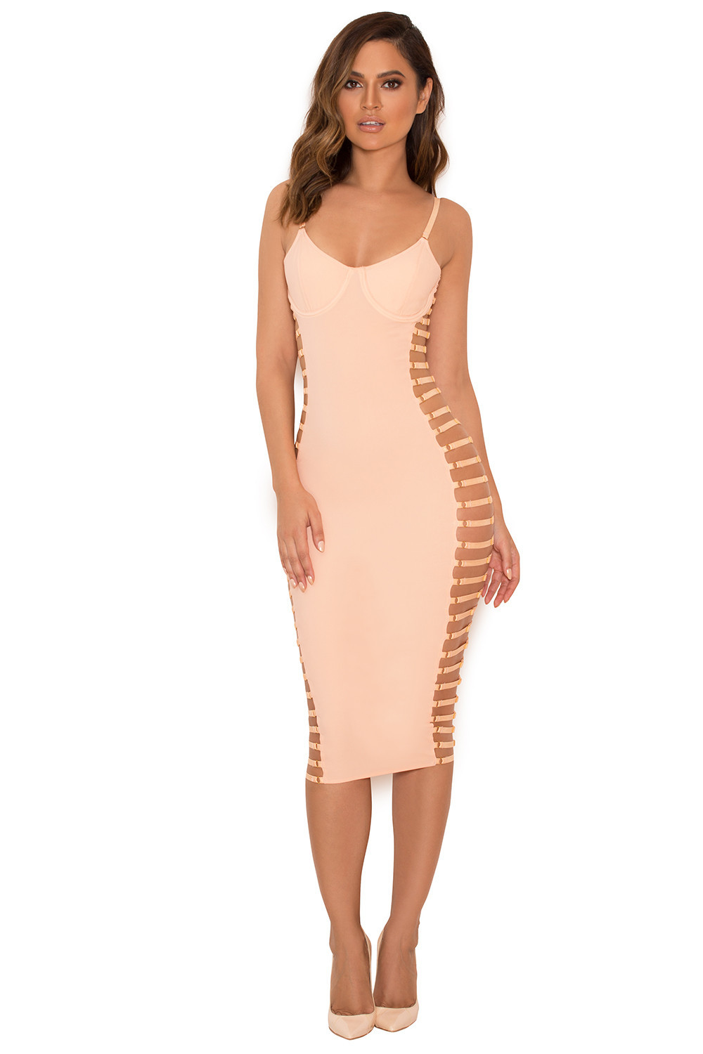 Clothing Bodycon Dresses Giovanna Blush Open Side