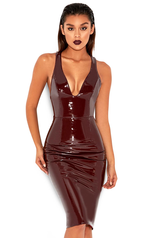 Clothing fetish leather patent