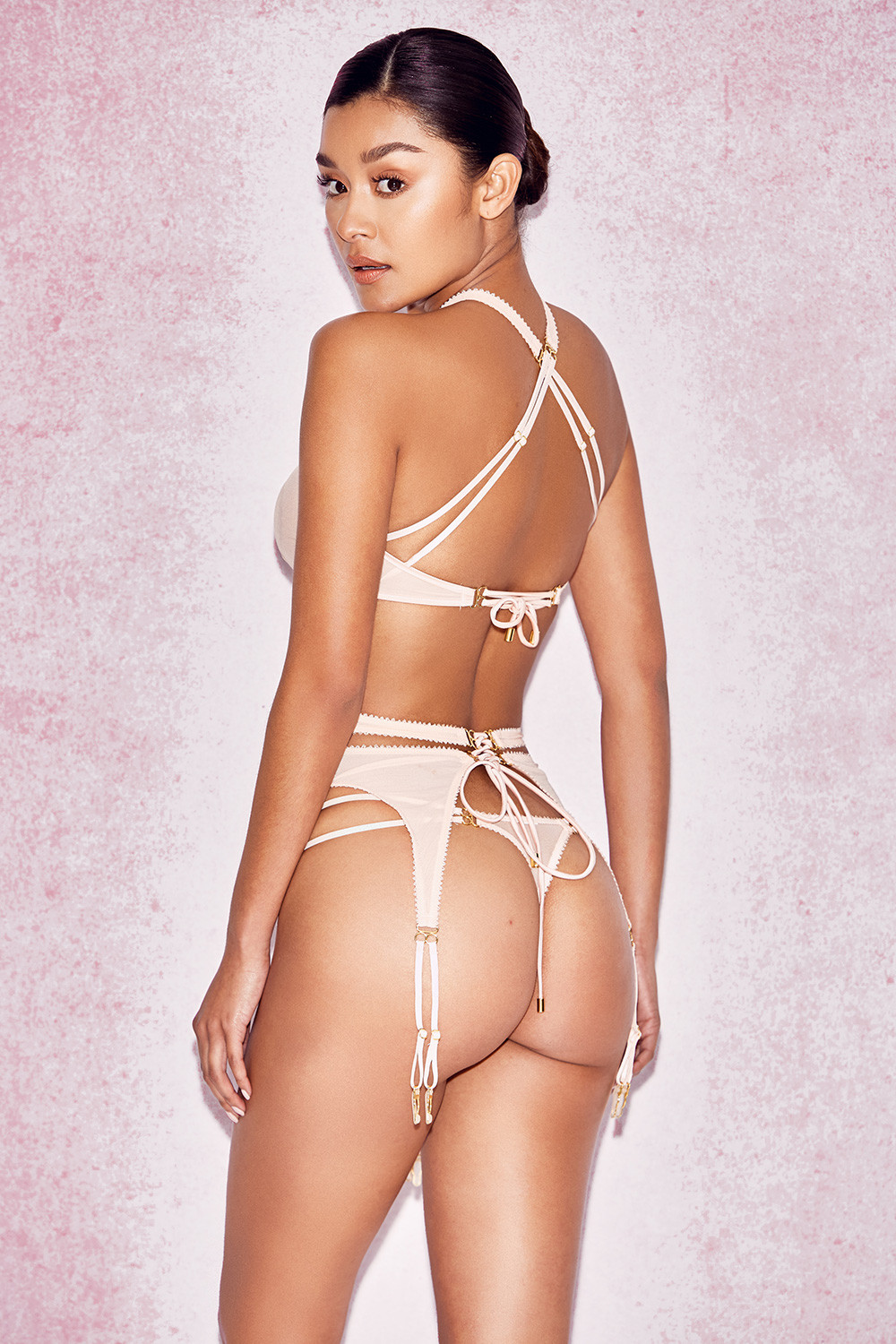 I found a matching bra and panty set for you 5
