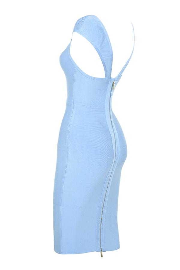Clothing Bandage Dresses Anelle Vestido Azul