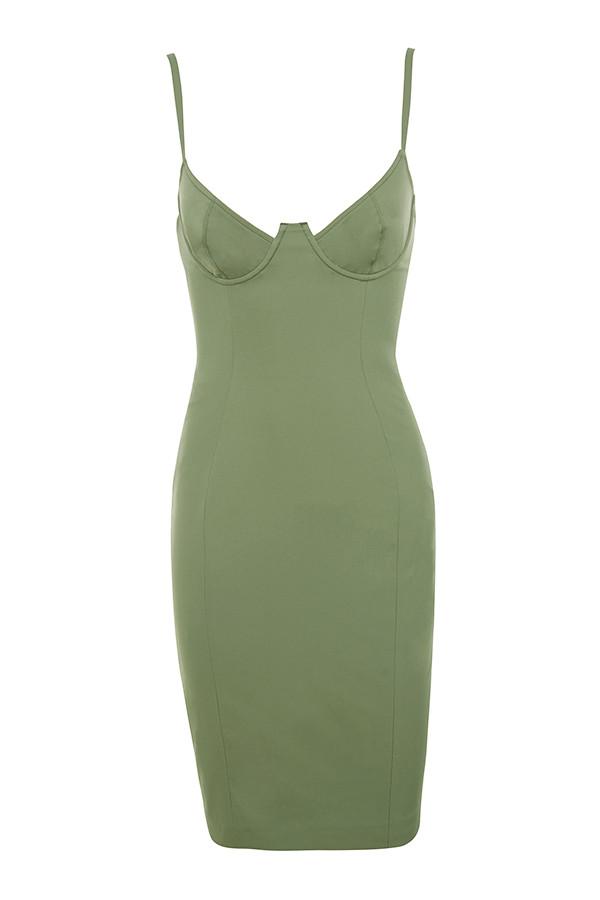 Clothing Bodycon Dresses 39 Mallory 39 Khaki Underwired