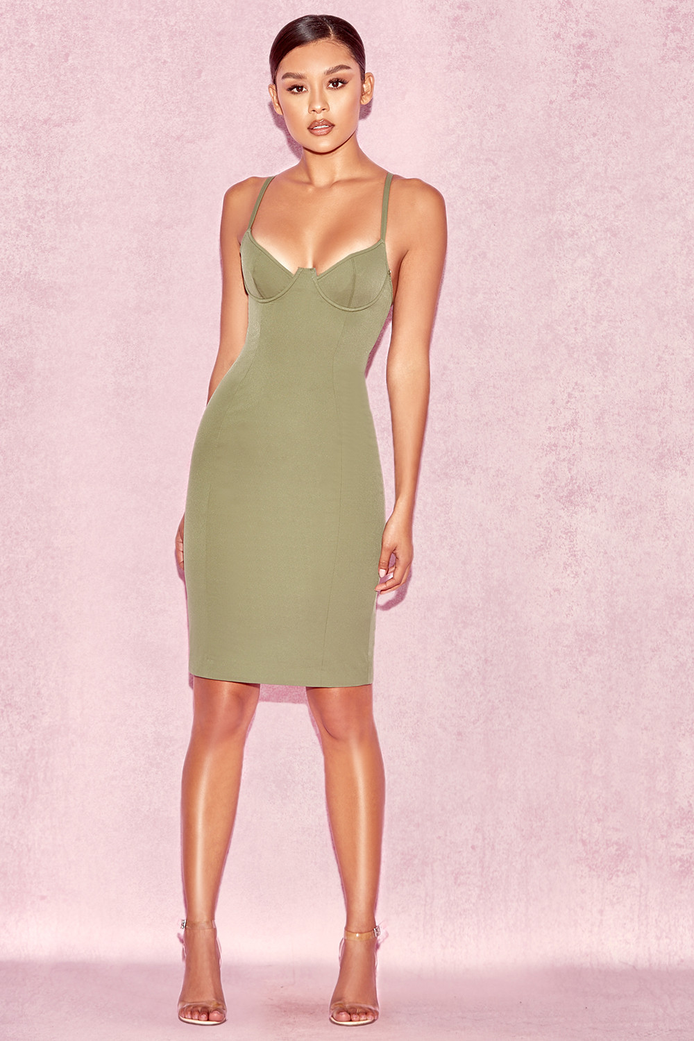 Clothing bodycon dresses 39 mallory 39 khaki underwired for Mallory material