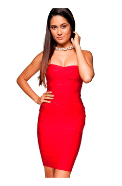 Leyla Red Bandage Dress