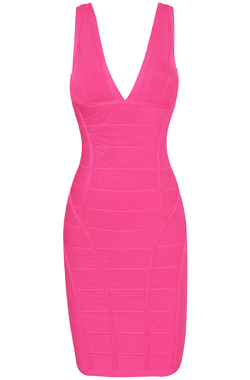 Jenna Fuchsia Bandage Dress