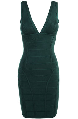 Jenna Evergreen Bandage Dress