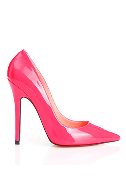 Paris Patent Leather Hot Pink High Heel