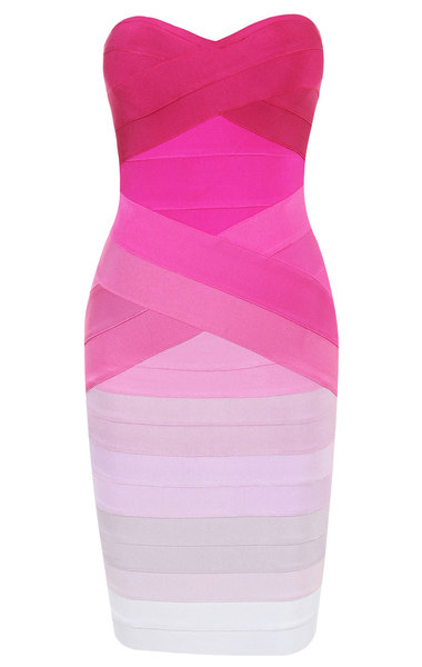Stacie Pink Gradient Bandage Dress