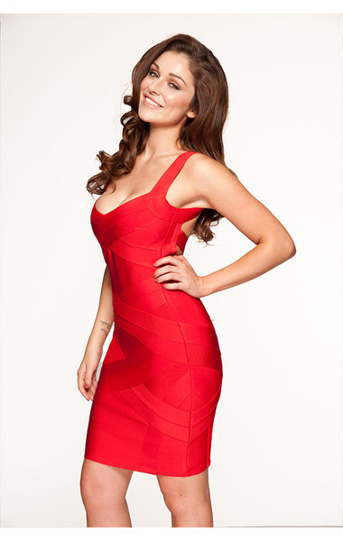 Jennifer Red Bandage Dress