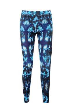 Shay Blue Graphic Print Stretch Twill Leggings