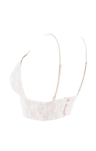Keshia White Lace Bralet