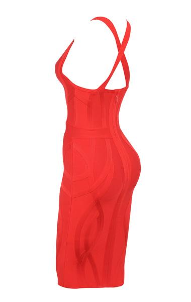cici red bandage dress