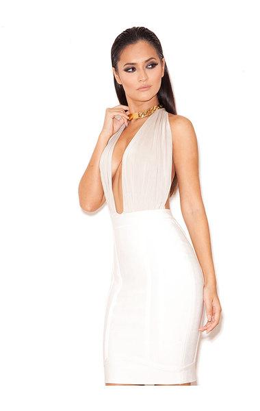 Pascha Champagne Silky Jersey Halter Body