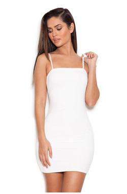 Nudist White Elastane Underdress Body Slip
