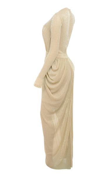 blanca nude maxi dress