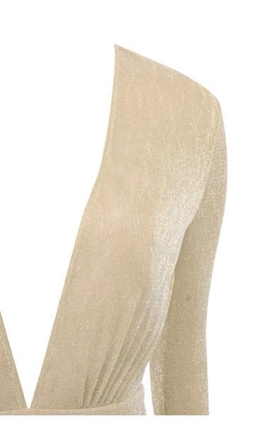 nude blanca dress