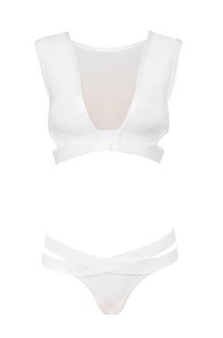 Lafayette White Bandage Tank Bikini