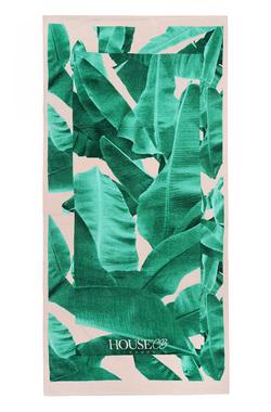 Palm Print House of CB Beach Towel / Bag
