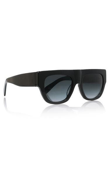 Too Glam Black Acetate Sunglasses