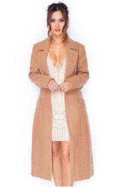 Milya Camel Wool Mix Coat
