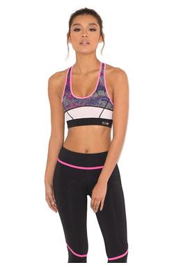Shakti Pink Printed Cropped Workout Top