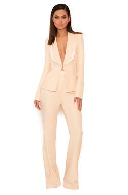 Drew Peach Stretch Crepe Trouser Suit