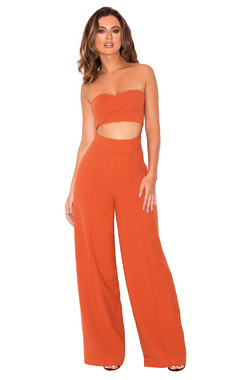 Rosalva Russett Two Piece Bustier Trouser Set