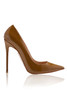 PARIS True Brown Patent Leather Pointy Toe Heels 5""