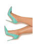"PARIS Tiffany Patent Leather Pointy Toe Heels 5"""