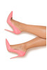 PARIS Candy Pink Patent Leather Pointy Toe Heels 5""