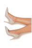 "PARIS Mink Patent Leather Pointy Toe Heels 4"""