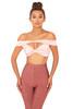 Mouna Blush Satin Off Shoulder Bralet