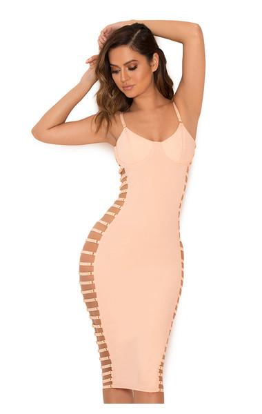 Giovanna Blush Open Side Bustier Dress