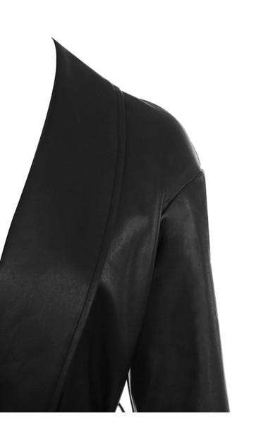 black meja coat