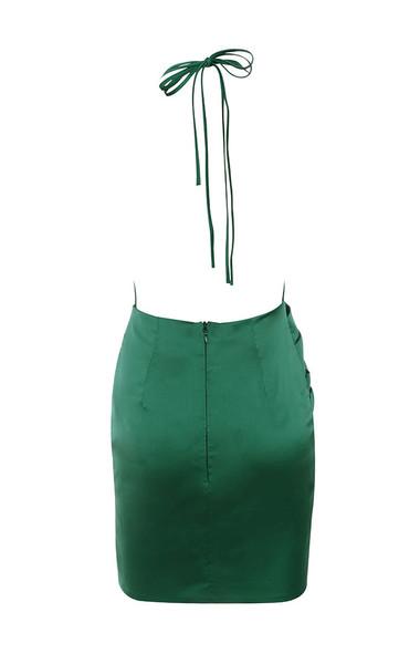 tamari dress in evergreen