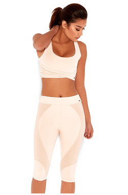 Relax Nude & Blush Knee Length Workout Leggings