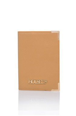 HOUSE OF CB PASSPORT HOLDER IN TAN
