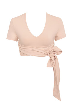 Tranquil Nude Tie Wrap Ballet Top